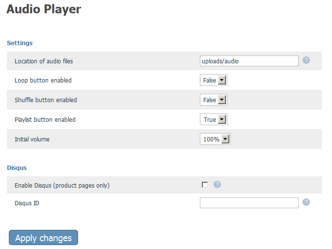 X-Cart Responsive Audio Player Settings
