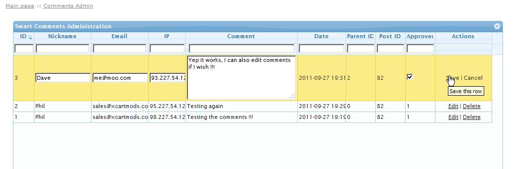 X-Cart Smart Comments Admin