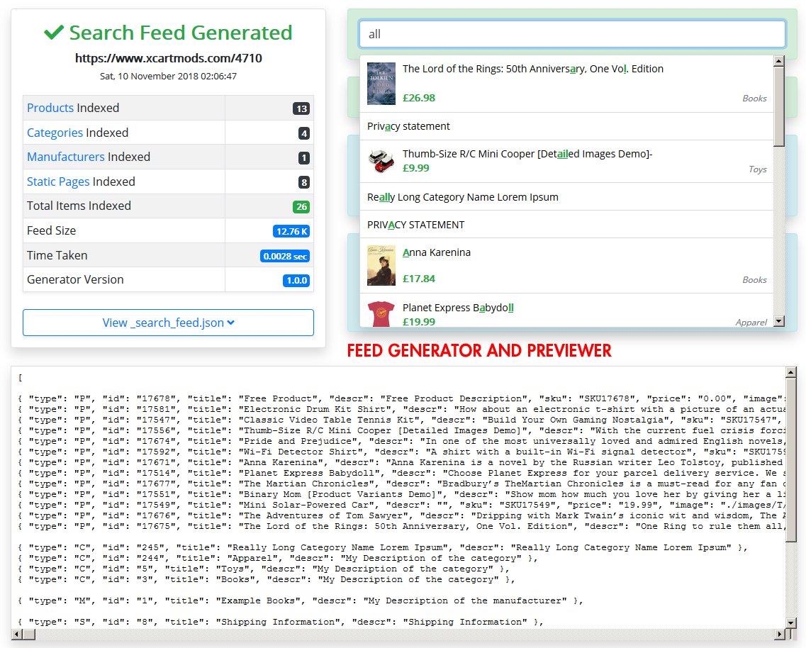 Feed Generator & Previewer