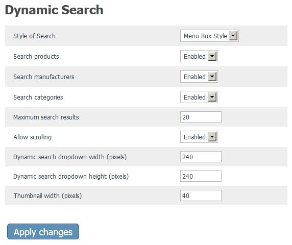 X-Cart AJAX Dynamic Search MK2 Admin Side