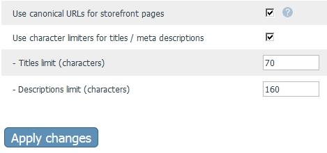 X-Cart SEO Character Limiters Settings