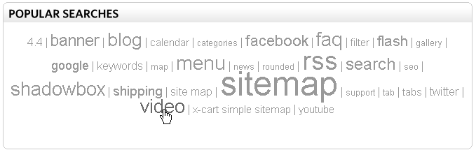 X-Cart Tag Cloud v4.x